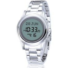 muslim prayer couple watch, new brand digital waterproof azan watch