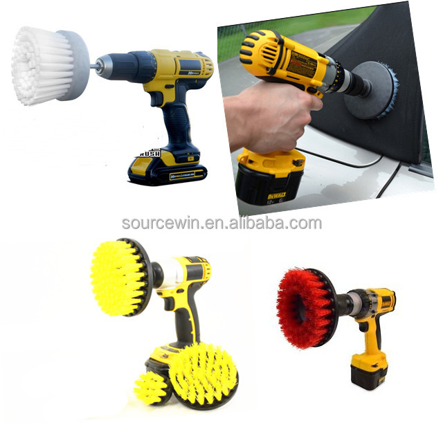 Amazon hot selling colorful PP bristle material electric Round Disc Drill Brush