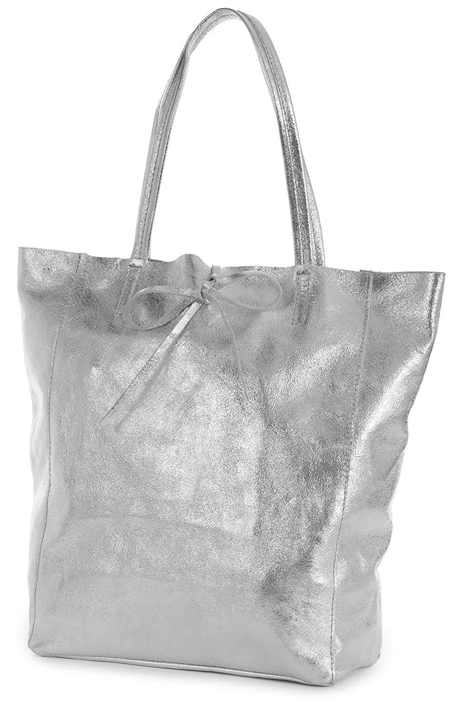 329b404b5 Get Quotations · LiaTalia Genuine Italian Soft Leather Leightweight Large  Hobo Tote Shopper Shoulder Handbag - Astrid
