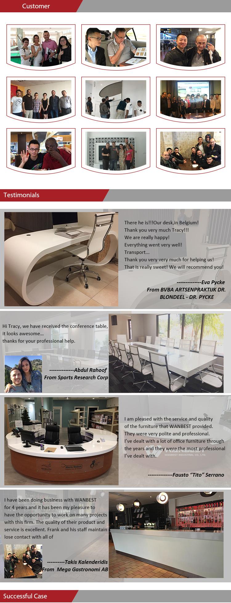 Mesa de centro de oficina blanca de cristal acrílico Led de lujo mesa de té de diseño moderno