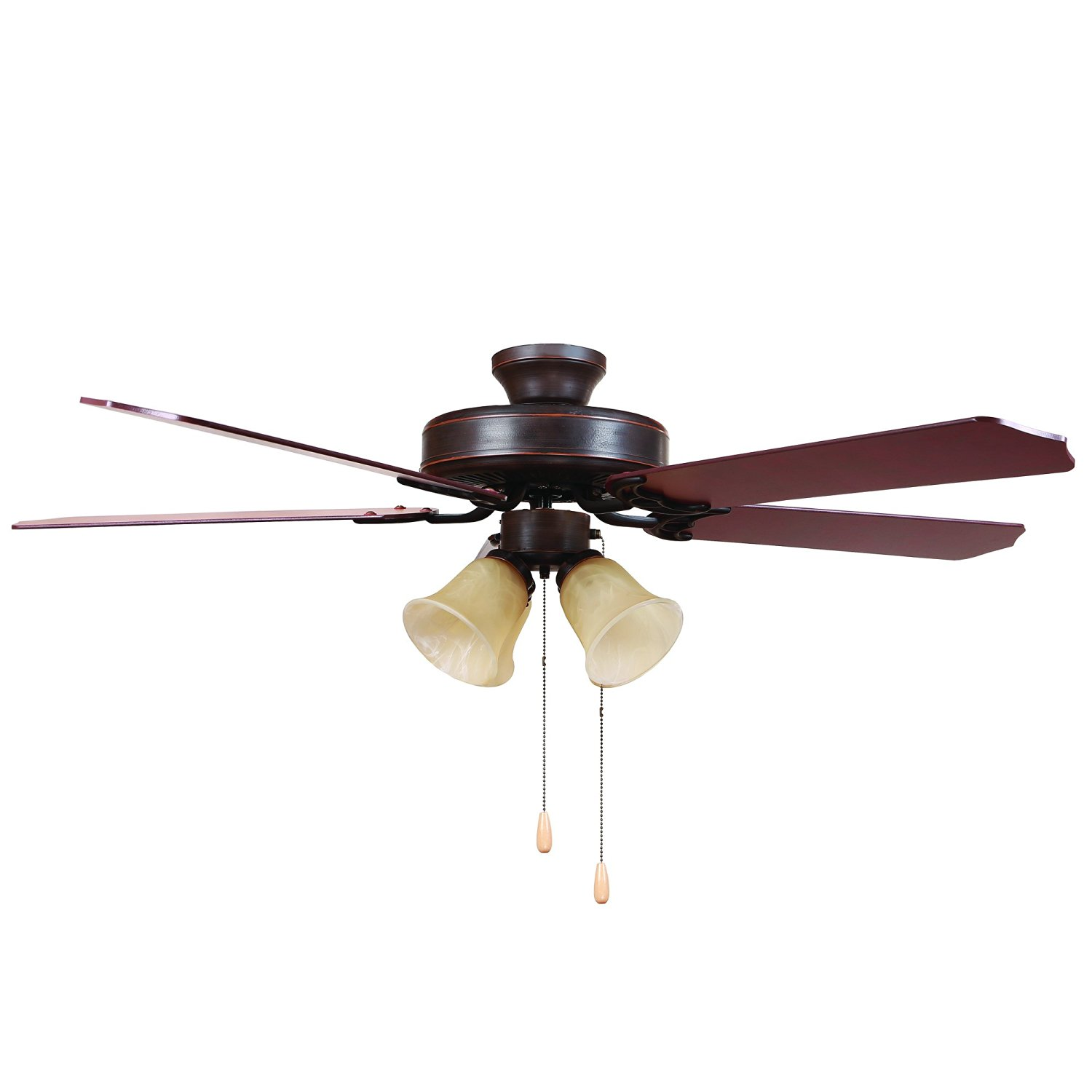 """Yosemite Home Decor WESTFIELD-ORB2-4TS Ceiling Fan with 4 Light, 52"""", Oil Rubbed Bronze Finish"""