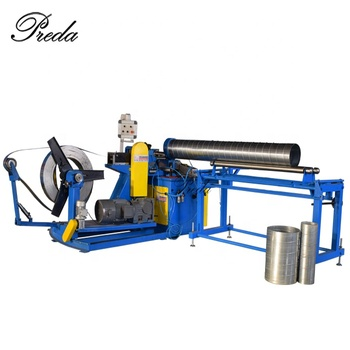 Hydraulic automatic PLC 1600mm diameter spiral duct making machine spiro duct machine