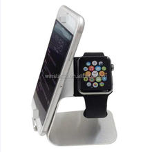 Aluminum Watch holder stand mobile phone Stand 2 in 1 phone stand TS026
