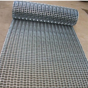 China 304 stainless steel wire mesh honeycomb stone crusher conveyor belt
