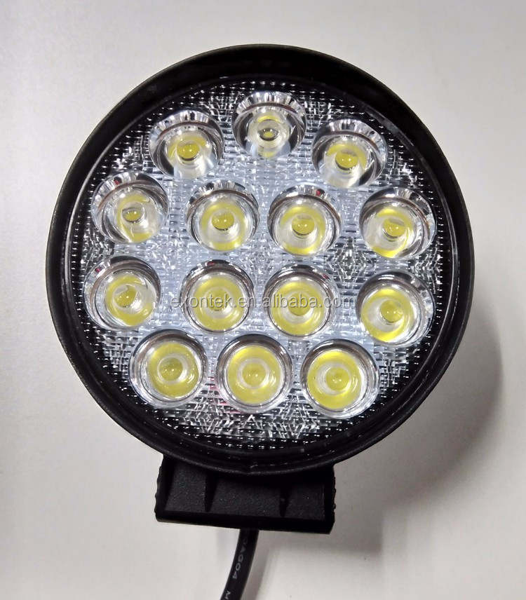 "Ready to Ship High power Extremely Bright Tractor LED Work Light 42W 4"" Round Off road Led Fog Lamp Driving DRL"
