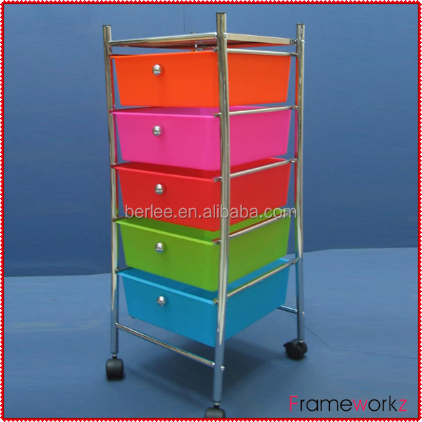 plastic storage cart with drawers/drawer plastic cart with wheels