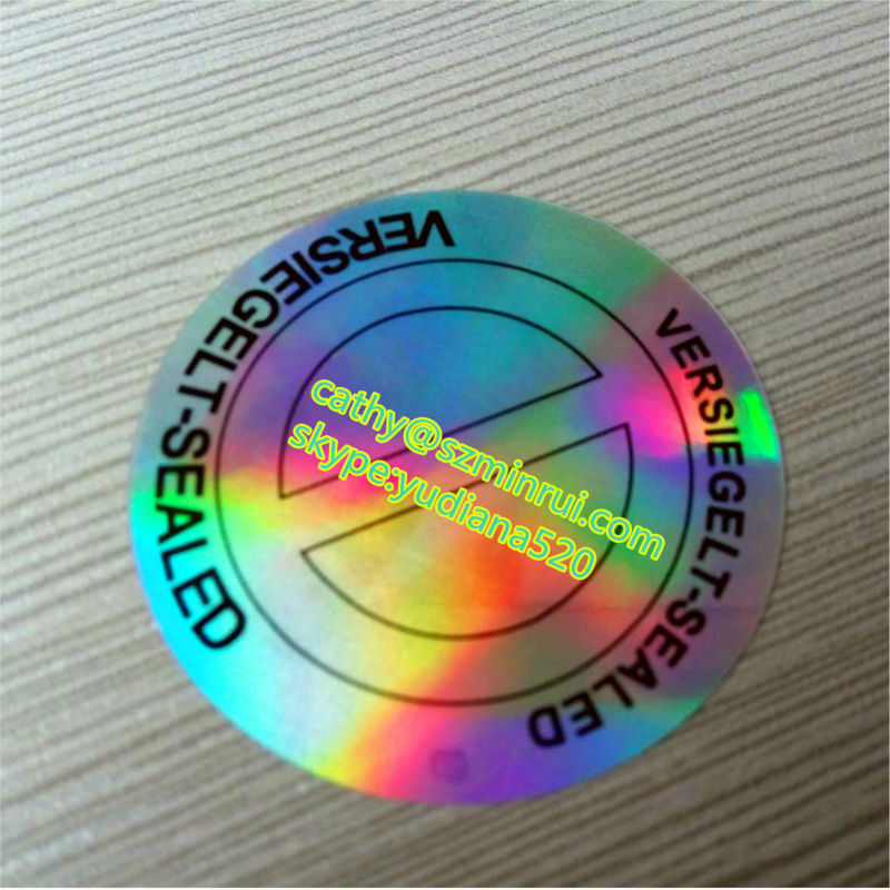 Hot sale custom make your own hologram sticker2d 3d silver background hologram round