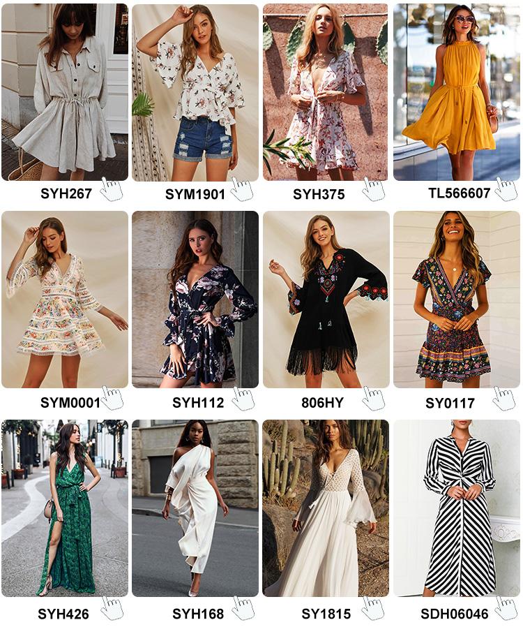 En gros multi couleur uni simple mode d'été sans manches longue maxi dame robe satin boho robe