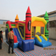 Lotting red L65235-3 inflatable jumping water castle with bouncer