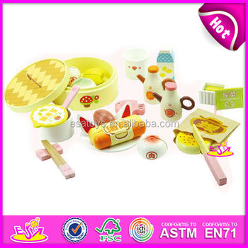 diy wooden pretend toy for kidsplay wooden dinner toy set for children