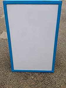"SIDEWALK SIGN DISPLAY White DRY ERASE BOARD 48/"" X 24/"" ORANGE WOOD FRAME"