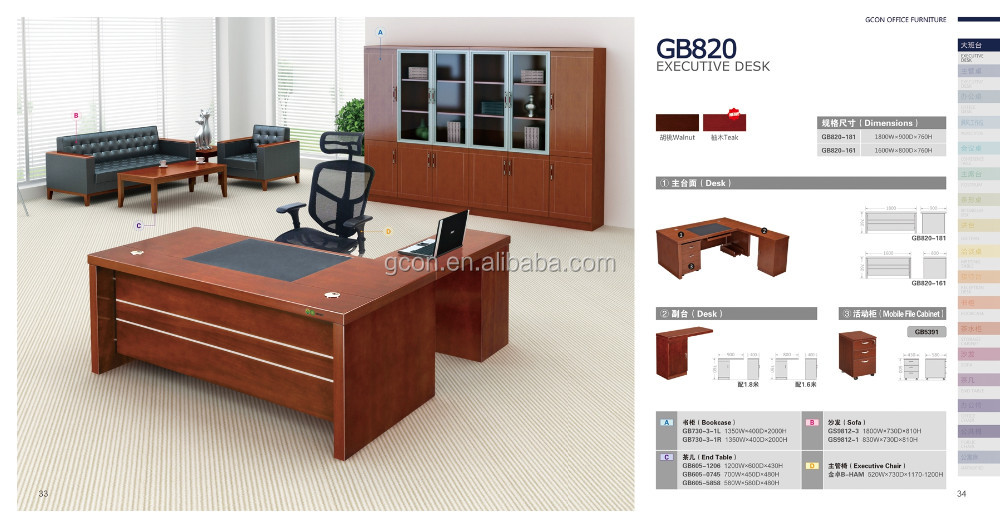 Uv Top Coated Office Write Meeting Desk Executive Table Specifications Standard Dimensions