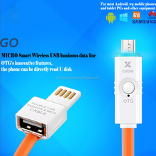 double-usb fashion&data cable with OTG function