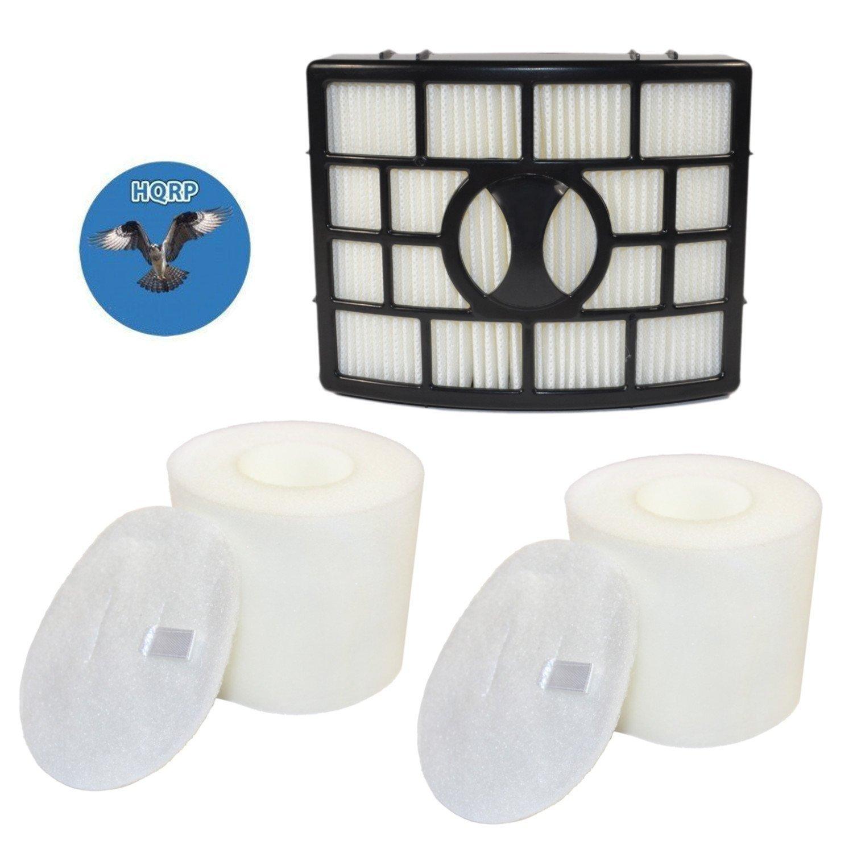 HQRP Filter Kit for Shark Rotator XHF650 XFF650 Replacement fits Shark Rotator NV650 NV750 series Lift-Away Vacuums, HEPA + 2x Foam & Felt Filters+ HQRP Coaster
