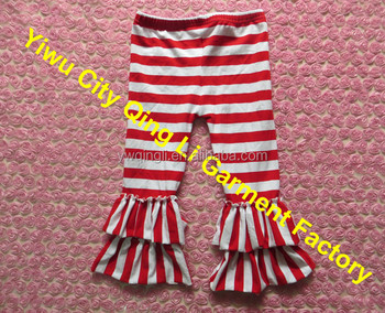 persnickety wholesale baby girls leggings newborn girls christmas stripe ruffle pants plus size trousers for toddler