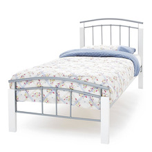 super twin xl single metal bed with wood legs