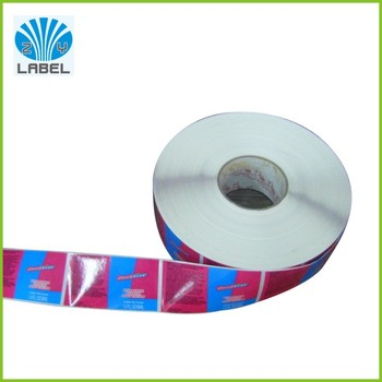 Color printed food adhesive label sticker customized for Sticker miroir adhesif