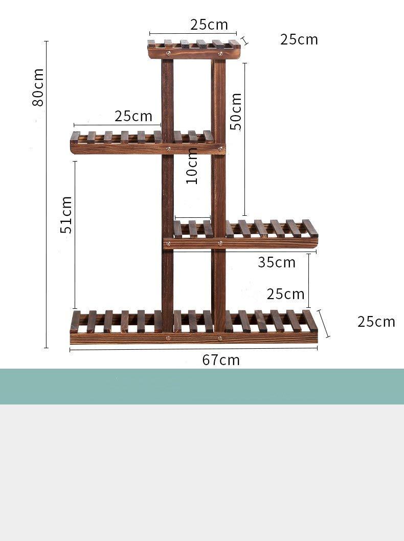 Balcony wood flower racks/parquet shelves for solid wood flooring/indoor simple wood living room flower-A