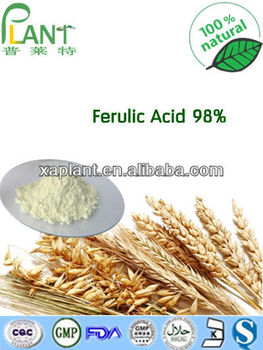 Best Price 100% Natural Ferulic Acid 98% CAS 1135-24-6