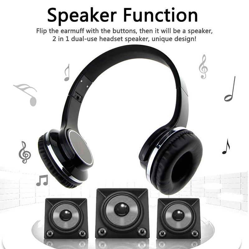 NFC Bluetooth Headphone Speaker Bluetooth 4.2 Over ear Headset FM Radio TF card Aux-in Hands-free Mic for Phones Computers