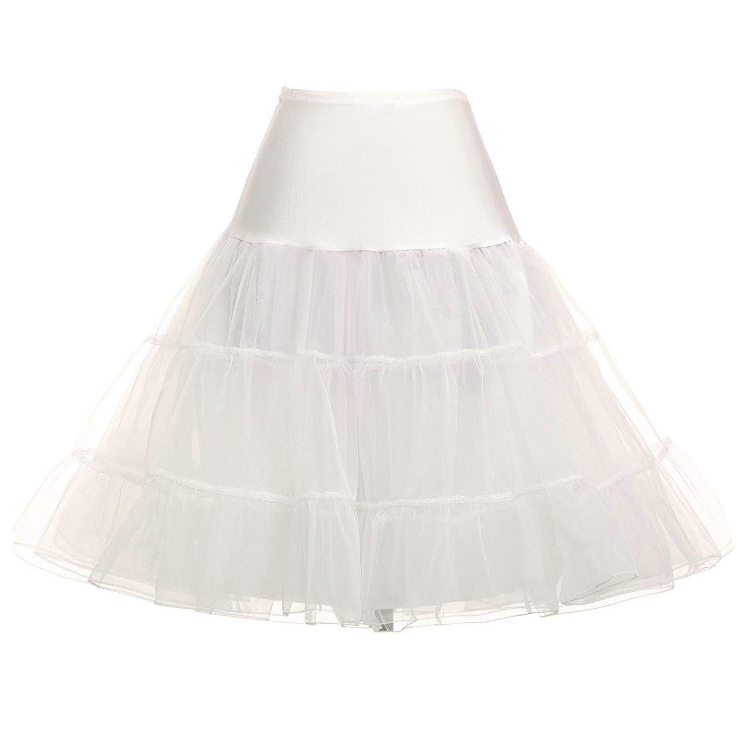 a9d04935b0 Get Quotations · PARTY LADY Women's Vintage Elastic Waist Petticoat  Crinoline Tutu Rockabilly Underskirts
