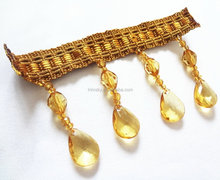 Beaded Tassel Fringe for Dancewear Dresses, Lampshade, Curtain Decoration