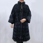 Multi Designs Luxury European Style Thick Fur Loose Jacket Long Winter Women Genuine Fur Stand Collar Real Mink Fur Coats