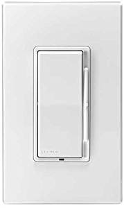 Leviton DSL06-1LZ Dimmer LED/CFL/Incandescent Single-Pole/3-Way 600W INC 300W LED/CFL 120 Volt Decora Rocker Slide Decora Style Electro-Mechanical - White Ivory Light Almond (Pkg of 10)