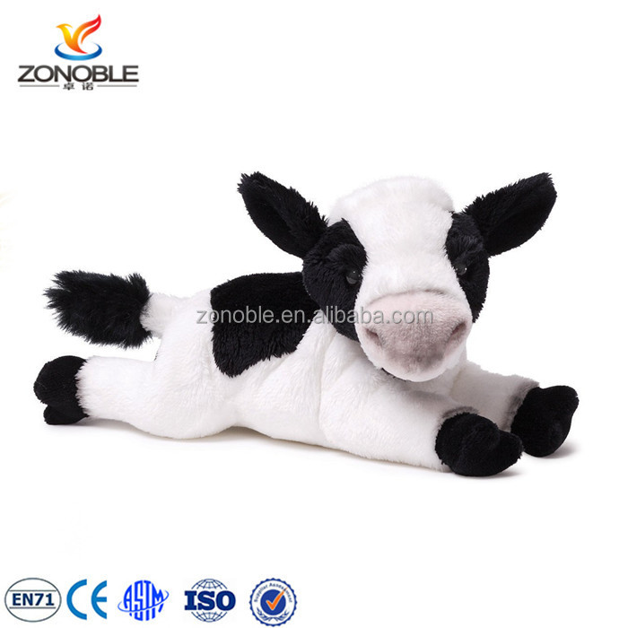 Factory OME baby product plush animal toy cute stuffed plush soft cow animal