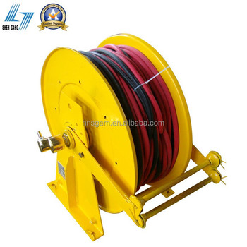 retractable double air hose reel for hydrogen and oxygen - Retractable Hose Reel