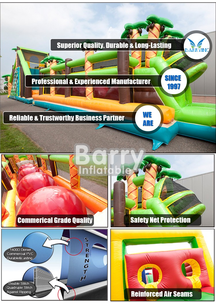 Hot selling cheap inflatable obstacle course 5k Manufacturer