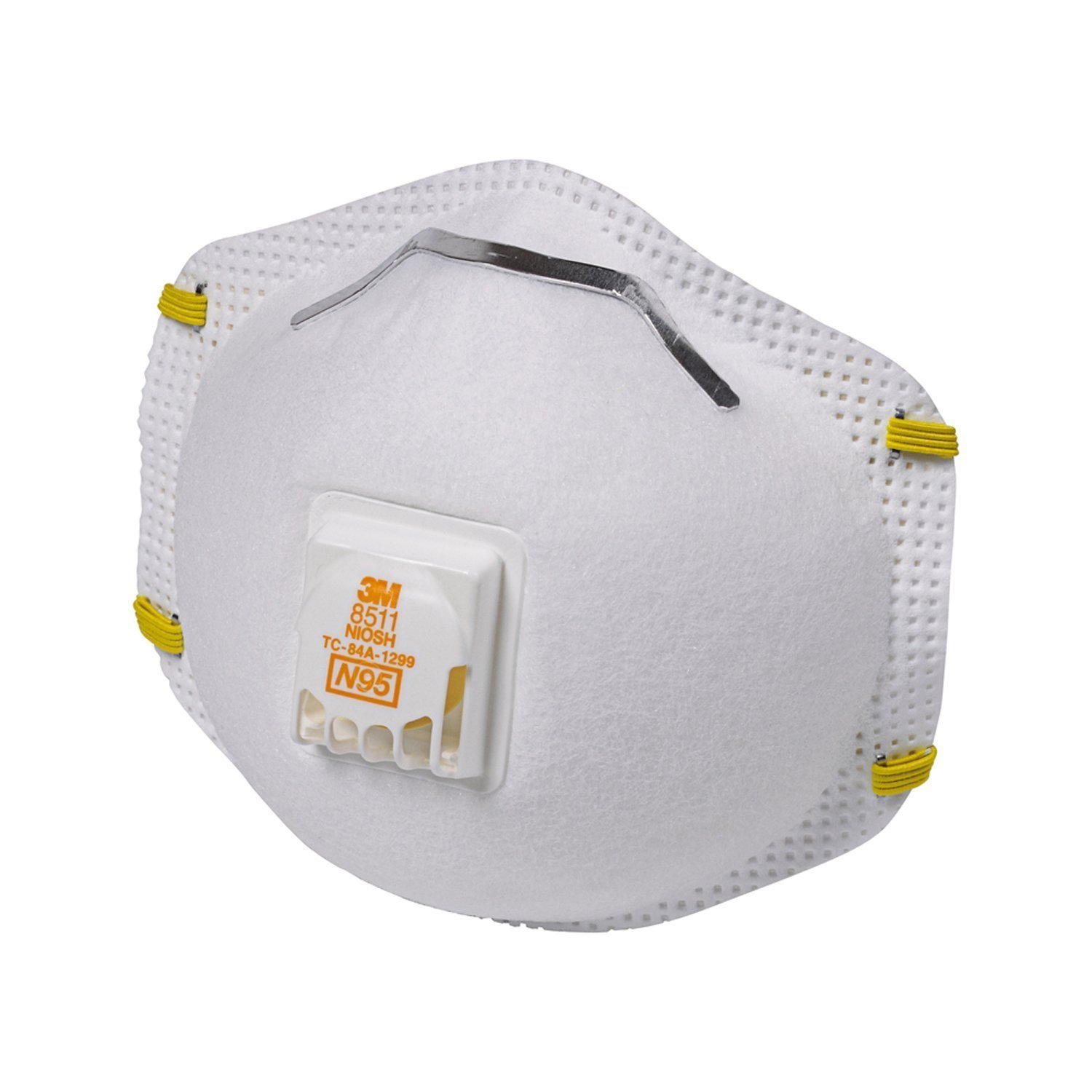 3M 8511 Particulate N95 Respirator with Valve, 40-Pack
