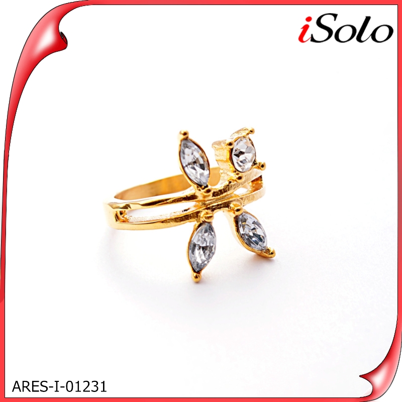 Women acessories new 2014 gemstones mother pearl pure gold ring