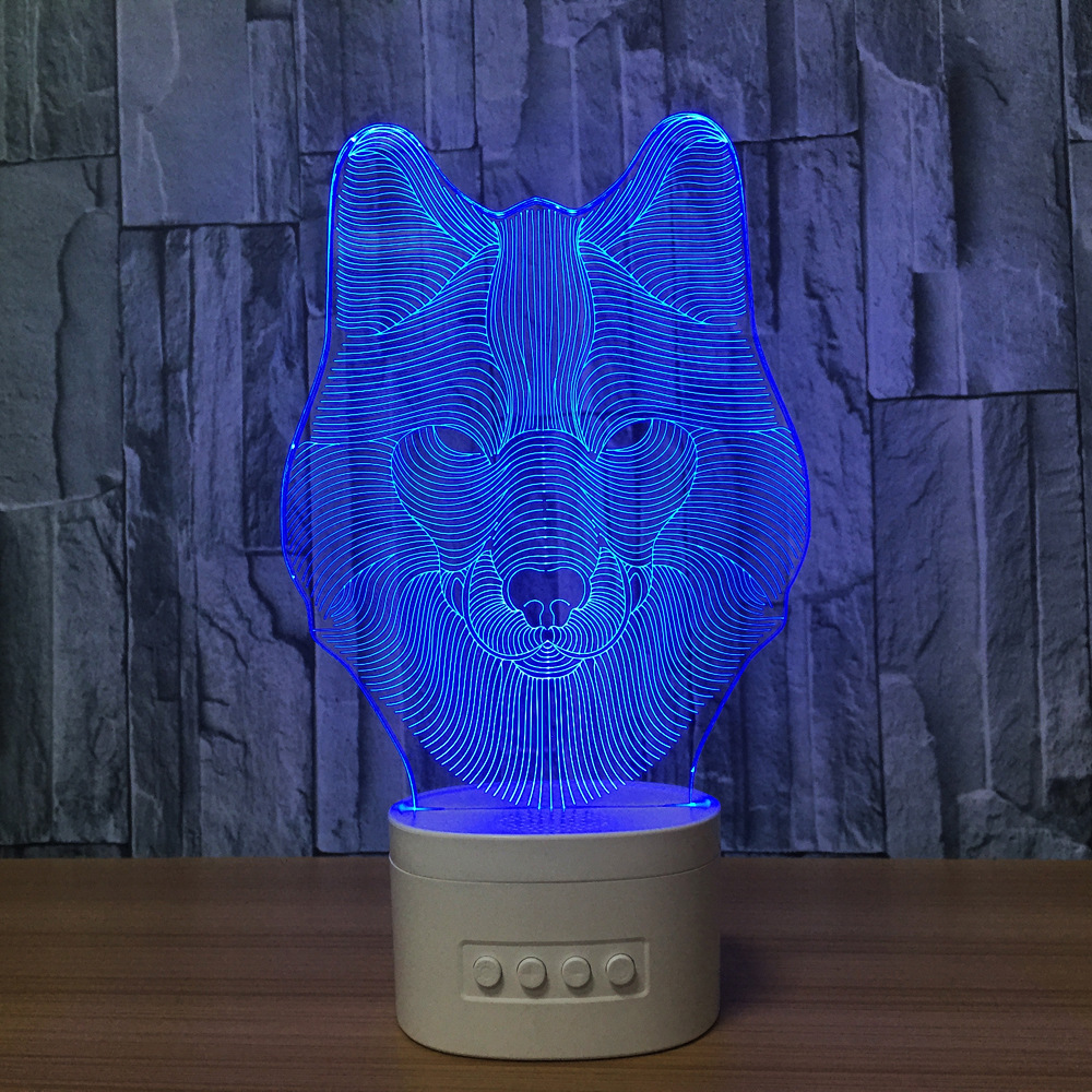 Bluetooth speaker 3D Optical visual table lamp cartoon shape led night light