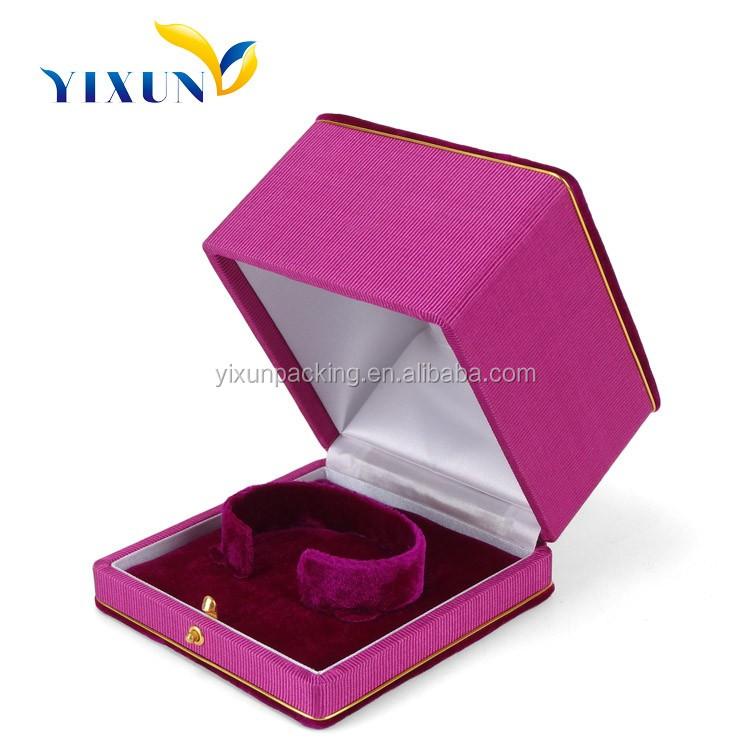 Pink Velvet Bracelet Box Jewelry Lining