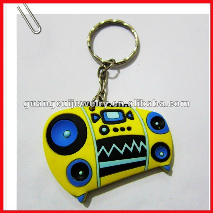 fashion soft pvc keychain radio