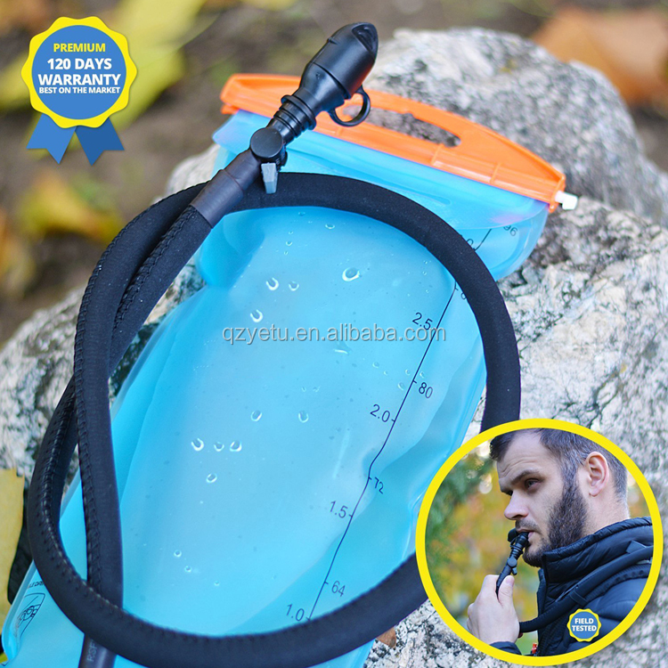 Custom Logo BPA Free Bicycle Cycling Running Climbing Drinking Bag Hydration Water Bladder with Insulated Sleeve