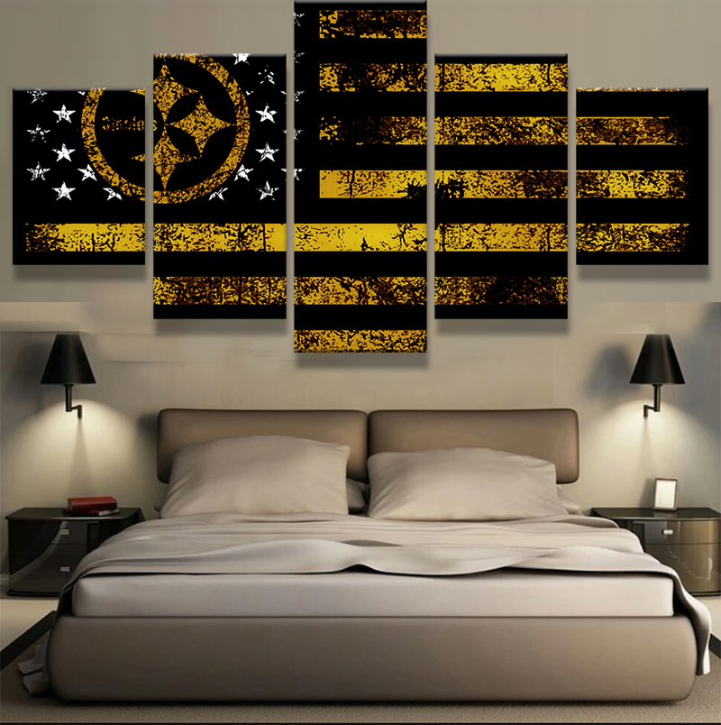 5 Panel Dallas Cowboys Canvas Prints Painting Wall Art Nfl: Online Shopping Steelers Logos