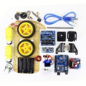 Smart Electronics Motor Smart Robot Car Chassis Kit Speed Encoder Battery Box 2WD Ultrasonic Module for Diy Kit