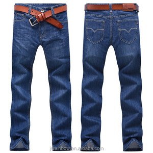 Business casual long pants men 's straight jeans