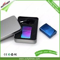 Ocitytimes wholesale zipper lighter /gift box usb cigarette lighters /dual arc electric lighter