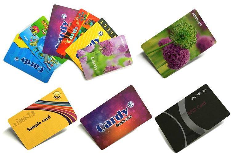 PVC بطاقات ذكية العرض على الإنترنت التحكم في الوصول MIFARE الكلاسيكية 1K 13.56MHz فارغة بطاقة RFID