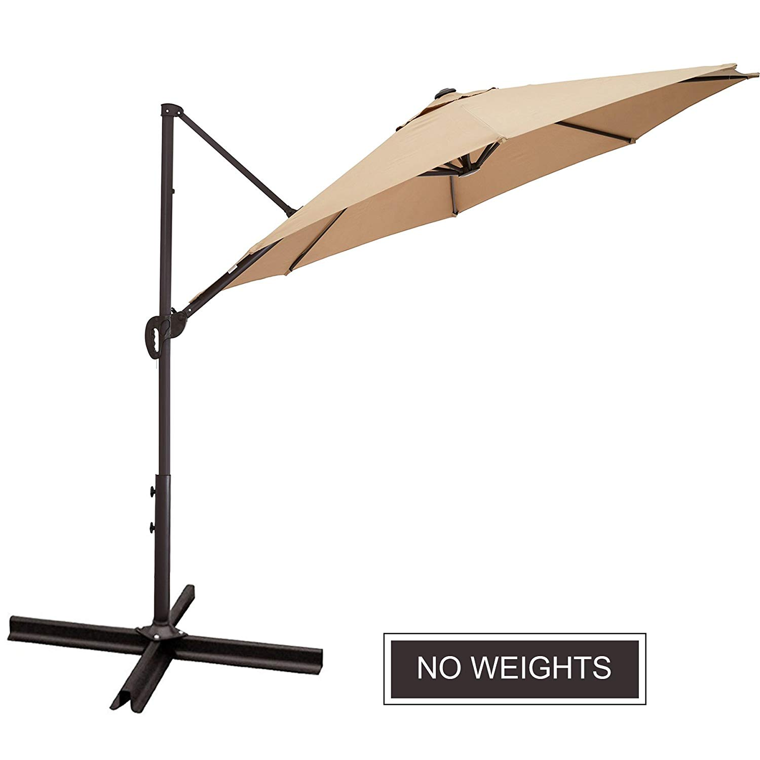 Get Quotations Co Z 10 Ft Offset Cantilever Umbrella Outdoor Patio Hanging 5 Lock Position