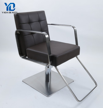 high quality reclining stainless steel base salon styling chair for salon
