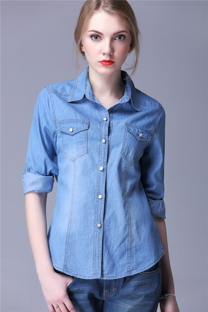 Women Denim Shirt, Women Denim Shirt Suppliers and Manufacturers ...