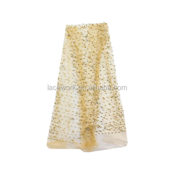 Wholesale French 3d Beaded Tulle Fabric /China Beaded Fabric Market 3d Wholesale Lace/3d Beaded Lace Fabric