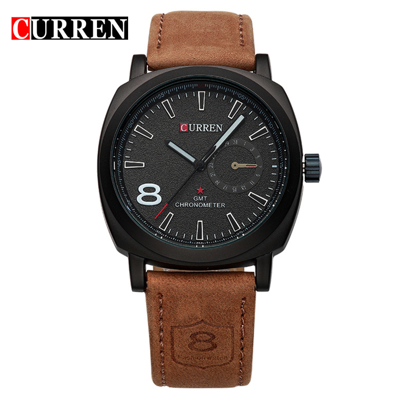 CURREN 8139 Quartz Business Men's Watches Fashion Military Army Vogue Wrist watch. High Quality Man Vogue фото