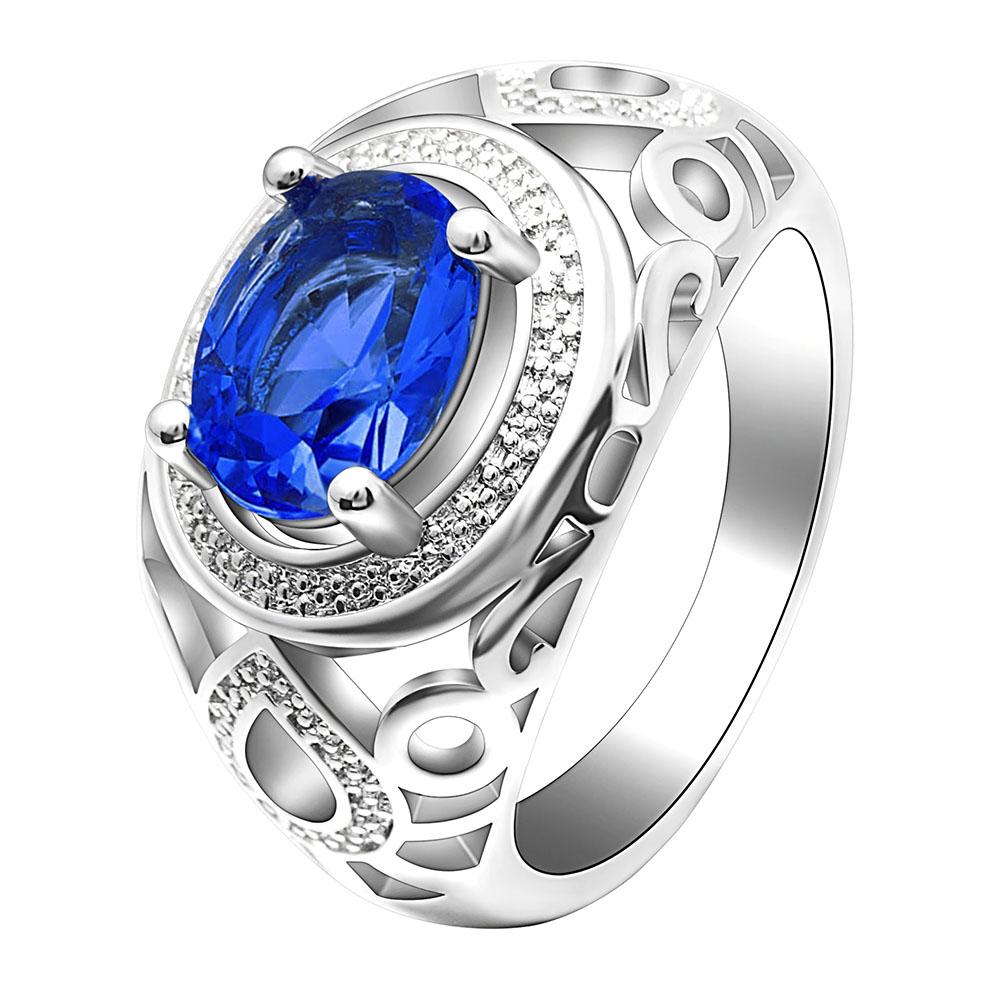 Men Wedding Ring Wholesale Elliptical Pink Green Blue Red Cz Ring Set 3Pcs Women Party Rings Platinum Ring Gift фото