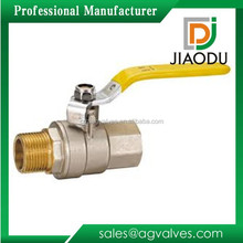 factory price 5/16 inch npt forged brass two way male threaded water gas oil ball valve with steel handle