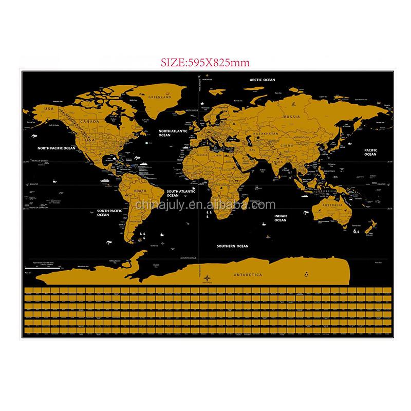 World Scratch Map World Scratch Map Suppliers and Manufacturers